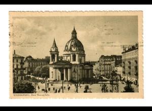 GG Ansichtskarte 1941 Warschau Drei Kreuzplatz