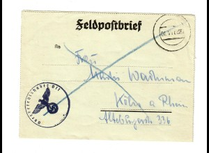 GG Feldpost 1942: FPNr. 10000, Oberbefehlshaber OST, nach Köln mit Text