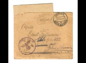GG Feldpost 1943: 1. Turkmenische Nachrichten Ersatz Komp. Minsk/Warschau