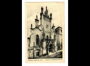 GG 14.10.39 Feldpost: AK Warschau Kathedrale St. Jana nach Braunschweig