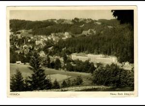 GG 1940 Feldpost: AK Krynica, Regierung, Finanzen, an Wettererkundungsstation