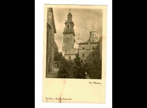 GG 1943 Feldpost: AK Krakau Burgkathedrale, Sold ... astätte nach Detmold