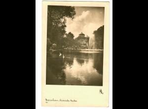 GG 1942 Feldpost: AK Warschau, Sächs. Garten nach Neuhausen