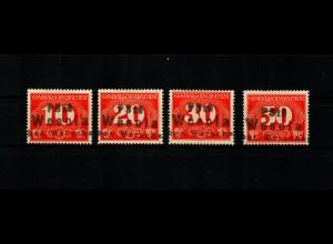 GG: MiNr. Z1-Z4, 3-zeiliger Stempel Wesola