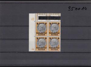 GG: Generalgouvernement MiNr. 13, postfrisch, **, DKZ 12L1a, Viererblock