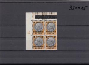 GG: Generalgouvernement MiNr. 13, postfrisch, **, DKZ 12L2a, Eckrand-Viererblock