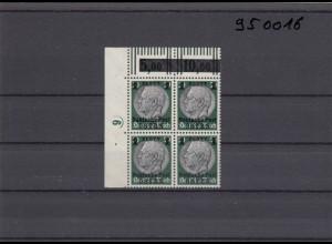 GG: Generalgouvernement MiNr. 12, postfrisch, **, DKZ 6L2a, Eckrand-Viererblock