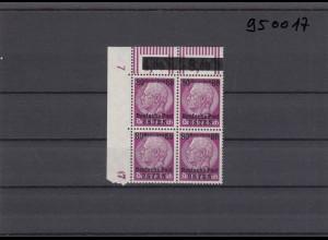 GG: Generalgouvernement MiNr. 11, postfrisch, **, DKZ 7L1a, Eckrand-Viererblock