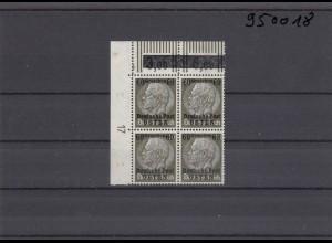 GG: Generalgouvernement MiNr. 10, postfrisch, **, DKZ 17L2b, Eckrand-Viererblock