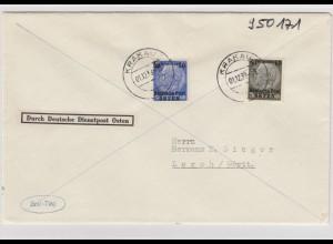 GG Generalgouvernement MiNr. 9 und 10 auf FDC vom 1.12.1939