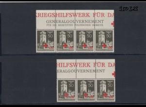 GG Generalgouvernement MiNr. 54, ** postfrisch, verschiedene Oberränder/Auflagen