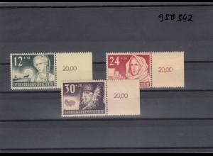 GG Generalgouvernement MiNr. 56-58, postfrisch, ** mit gleichem Seitenrand 20