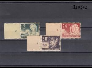 GG Generalgouvernement MiNr. 56-58, postfrisch, ** mit gleichem Seitenrand 2