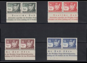 GG Generalgouvernement MiNr. 59-62, postfrisch, ** waagr. Paare Sektorennummer 1