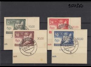 GG Generalgouvernement MiNr. 59-62, gestempelt Tschenstochau Eckrand