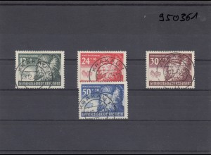 GG Generalgouvernement MiNr. 59-62, gestempelt Krakau