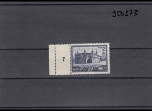 GG Generalgouvernement MiNr. 63, **, postfrisch, Leerfeld im Seitenrand