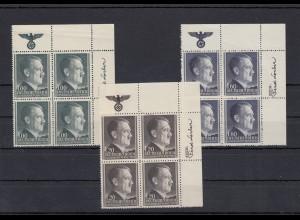 GG Generalgouvernement MiNr. 86A-88A, **, Eckrand VE2, Viererblock, HHZ
