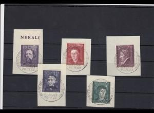 GG Generalgouvernement MiNr. 96-100, gestempelt, Künstler, Ausstellung, Stücke