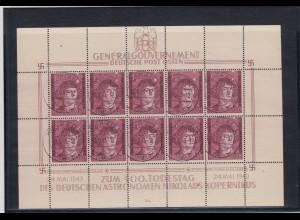 GG Generalgouvernement MiNr. 104 gestempelt, Kleinbogen II/2