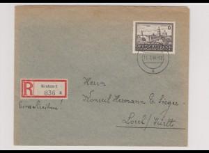 GG Generalgouvernement MiNr. 115, FDC auf R-Brief, Krakau