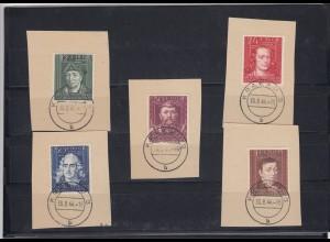 GG Generalgouvernement MiNr. 120-124, gestempelt Krakau 3