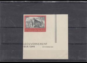 GG Generalgouvernement MiNr. 125U, **, Eckrand E4, SektorNr. 3