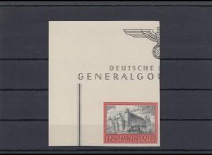 GG Generalgouvernement MiNr. 125U, **, Eckrand E1