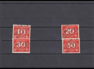 GG Generalgouvernement MiNr. Z1-Z4, gestempelt Wesola, 3-Zeiler