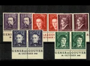 GG Generalgouvernement MiNr. 96-100, ** postfrisch, mit Ausgabedatum 26.10.42