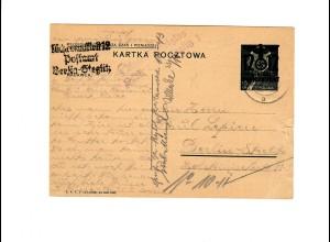 Ganzsache GG P 3 I 08-1938: 9.10.40 Warschau nach Berlin, portogerecht