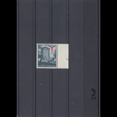 GG: MiNr. 68 postfrisch, **, Sektorennummer III neben Feld 30