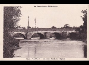 post card Marnay: Le grand pont
