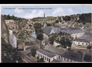 post card Luxembourg: Ville Basse du Grand et les Rochers du Bock