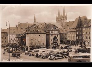 post card Eger (Cheb): Altes Stöckel - alte Busse - Saalegold