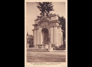 post card Salins-Les-Bains, Place D'Armes, Mère Truchot