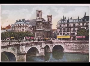 post card Besancon-les-Bains, Pont Battant, Eglise Madeleine