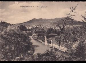 post card Champagnole - vue générale