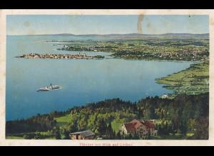 Ansichtskarte Pfänder mit Blick auf Lindau