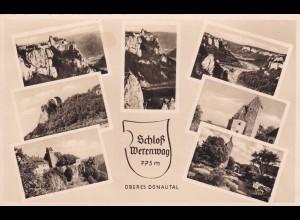 Ansichtskarte Oberes Donautal Schloss Werenwag