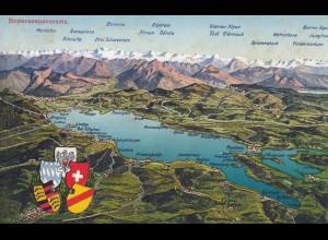 Ansichtskarte Bodenseepanorama, Hotel Pfänder