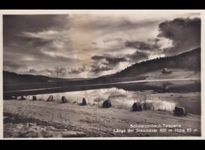 Ansichtskarte Schwarzwald Talsperre - Staumauer
