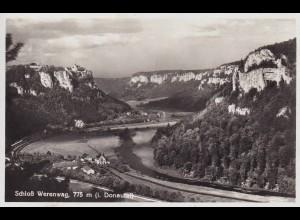 Ansichtskarte Donautal Schloss Werenwag - Tal
