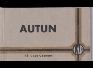12 picture post cards of Autun, complete, as new