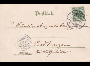 Glückwunsch Postkarte 21.12.1899 Wolfenbüttel