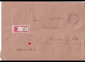 Feldpost Einschreiben Zamosc/Lublin nach Meissen