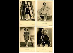 8x Ansichtskarte Shirley Temple, Ross Verlag, ca. 1937/38