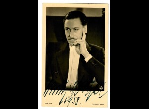 Postkarte Willi Birgel mit Autogramm, Ross Verlag 1938