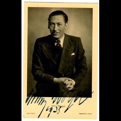 Postkarte Willi Birgel, Autogramm, Ross Verlag 1938