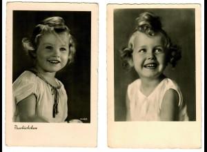 Postkarte Pausbäckchen, Mädchen ca. 1937/38